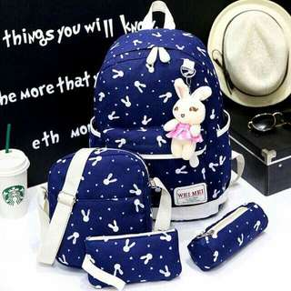 Bunny Backpack 4in1 set