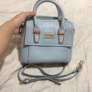 Perllini baby blue sling bag