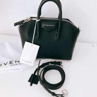New Givenchy Antigona Mini Black Goat Skin