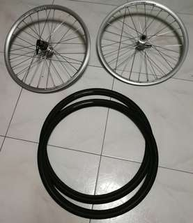 "20"" 451 Alex rim wheetset"