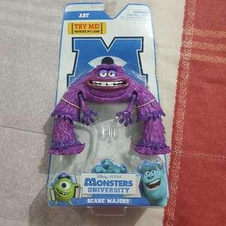 "Legit Brand New With Box Disney Pixar Monsters University Scare Majors Art 7"" Toy Figure"
