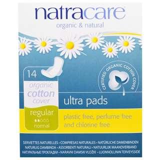 Natural Pads. Organic Cotton Pads. Regular, Normal, Plus 14 Pads