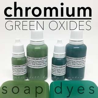 Chromium Green Liquid Dye Oxides Cosmetic Grade Soap Slime Colourants DIY Makeup Supplies