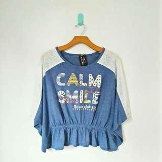 Calm Smile Croptee