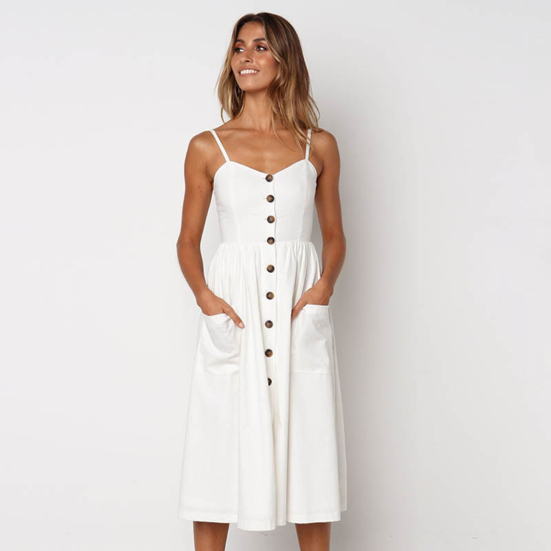 4a768402fd6 2018 Button Down Summer Dress