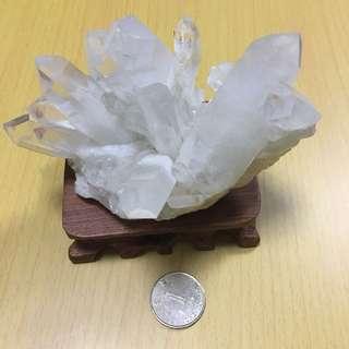 白水晶簇(冰柱體)