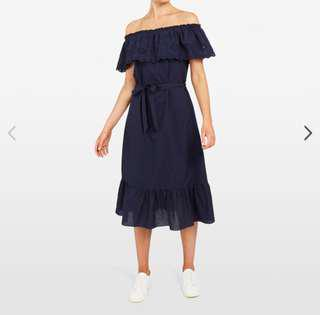 French connection off shoulder dress