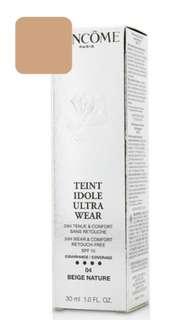 🚚 Lancome Teint Idole Ultra Wear 24H Wear & Comfort Foundation SPF 15 - # 04 Beige Nature 30ml