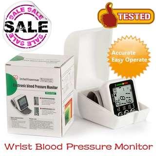 Wrist Blood Pressure Digital LCD Screen Heart Beat & Pulse Monitor