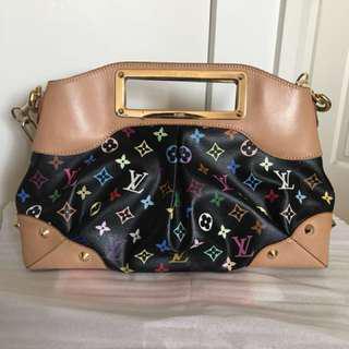 Authentic Louis Vuitton black multicolour Judy MM bag