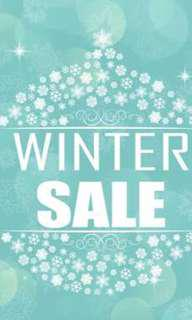 BIG WINTER SALE! EVERYTHING NEEDS TO GO