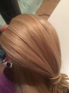 Blonde microbead hair extensions 20 inch