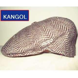 🚚 KANGOL人字紋(咖啡色)狩獵帽