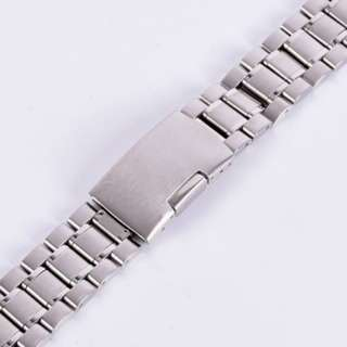 1464. Stainless Steel Men Metal Watch Bracelet Band Clasp Watch Band Watch Band US
