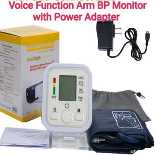 Voice Function Arm Blood Pressure Pulse Monitor Health Care Digital Upper Portable Sphygmomanometer