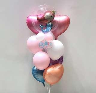 Mermaid in led balloon - Balloon Bouquet Set