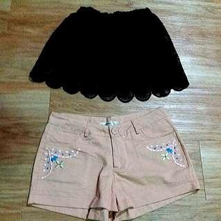 🚚 ORANGEBEAR(L) 短褲 ,蕾絲短群褲
