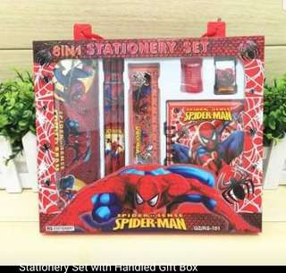 Spiderman Stationery Set with handled gift box