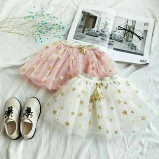 🚚 白色星星紗裙