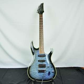Ibanez SA160FM series 黑邊雲狀灰藍 電吉他*現金收購 樂器買賣 二手樂器吉他 鼓 貝斯 電子琴 音箱 吉他收購