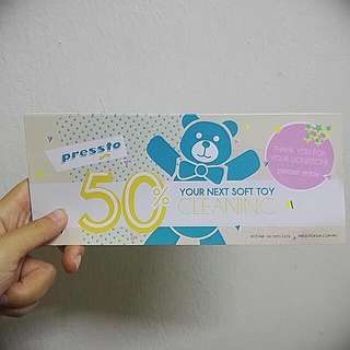 Pressto Soft Toy DRY CLEANING Voucher