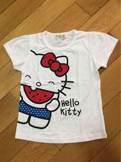 🚚 KITTY 吃西瓜造型棉T