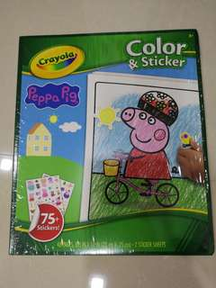 Crayola Colour and stickers Pepper pig