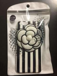韓製山茶花黑白間手機款