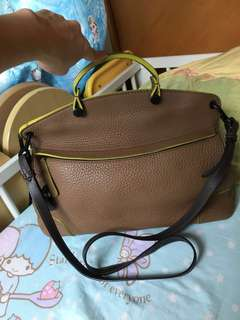 Used Authentic Furla Two Way Bag with Lock