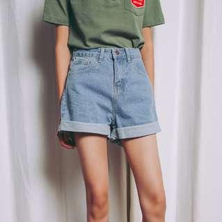 Korean high waist jeans denim shorts