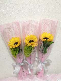 Artificial Flower Bouquet for graduation or any other occasions 3 stalk