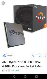 Amd ryzen 2700 chip (2nd generation)