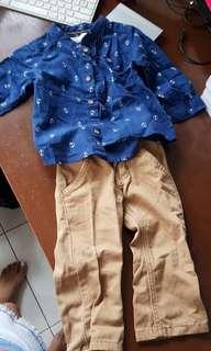 Terno h&m top and brown pants