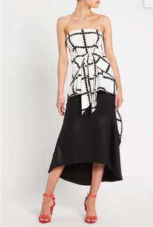 sass & bide Between The Lines Top, Size 38 or 8, RRP $355