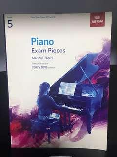 🚚 Grade 5 Piano Exam Pieces (2017 & 2018)