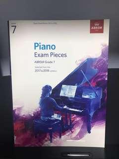 🚚 Grade 7 Piano Exam Pieces (2017 & 2018)