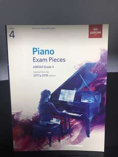 🚚 Grade 4 Piano Exam Pieces (2017 & 2018)