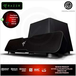 Razer Leviathan - Elite Gaming Music Sound Bar 5.1 surround sound Bluetooth + Razer Headphone Stand