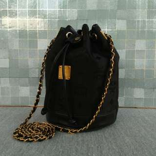 MCM Mini Drawstring Bucket Bag