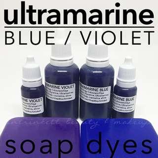 Ultramarine Blue Violet Purple Liquid Soap Dyes Cosmetic Grade Slime Colourants DIY Makeup Supplies