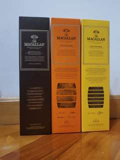 Macallan edition no1,2,3