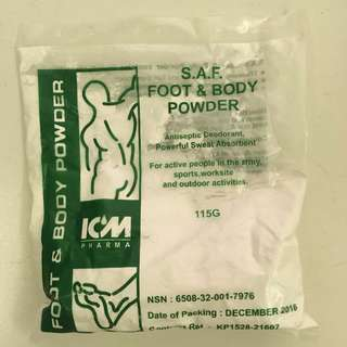 SAF foot and body powder