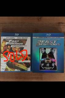 The Fast & the Furious blu rays