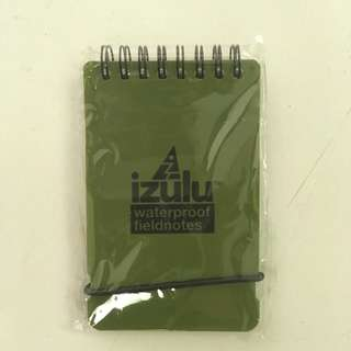 Izulu waterproof fieldnotes notebook (green)