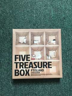 🚚 FTIsland 4th album- Five Treasure Box