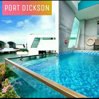 Port Dickson Premium Pool Villa water chalet (advance booking only)