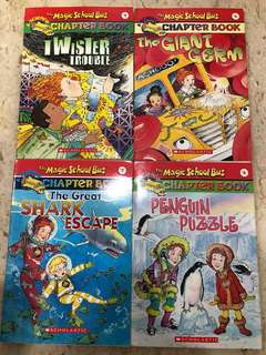 The Magic School Bus Chapter books 2, 3, 5, 6, 7, 8, 12, 14, 16, 19