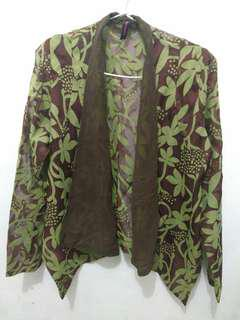 Green flowers Print outer (never been used)