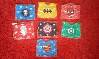 Baby bibs superheroes