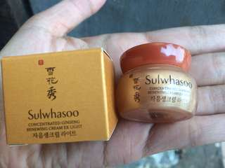 Sulwhasoo concentrate ginseng renewing cream ex light